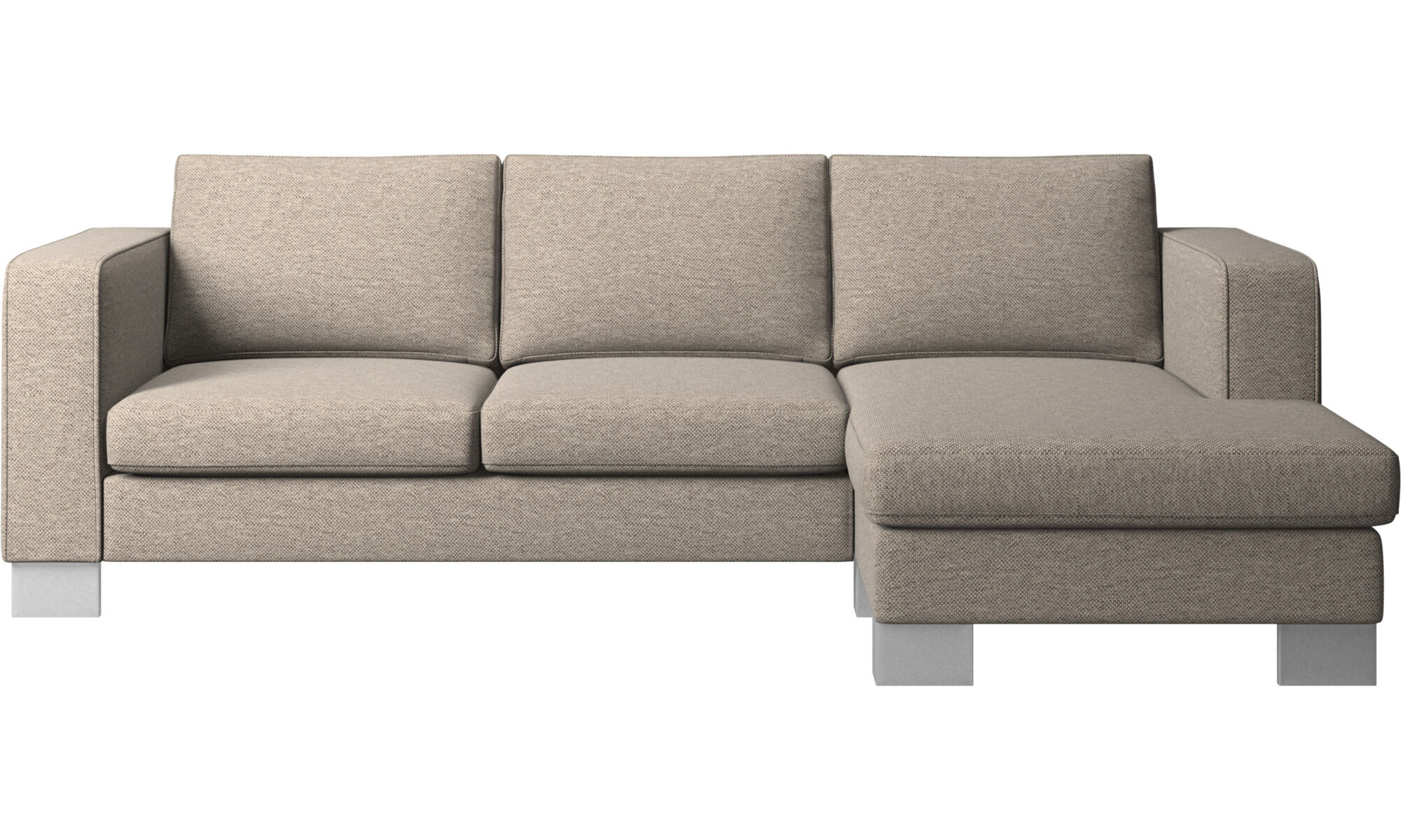 Chaise Lounge Sofas   Indivi 2 Sofa With Resting Unit   Beige   Fabric ...