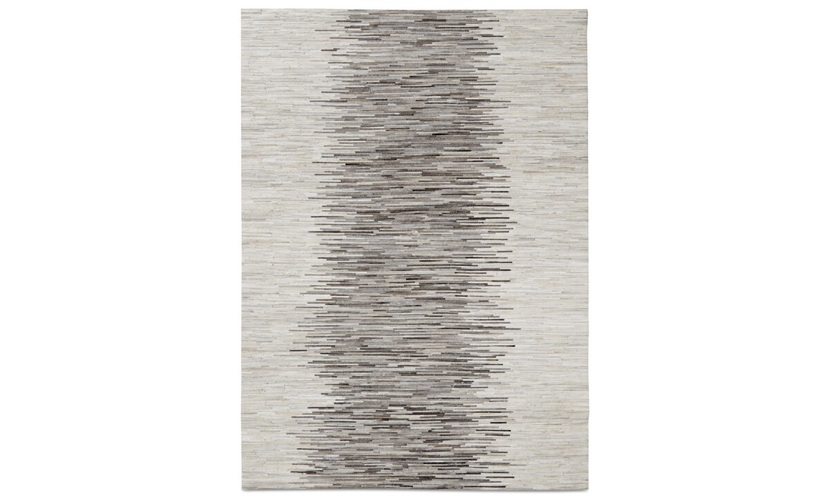 Leather rugs - Ancona rug - rectangular - Grey - Leather