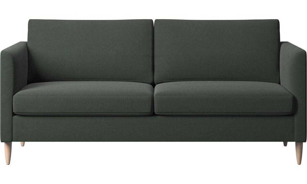 2½-sitzer Sofas - Indivi Sofa - Grün - Stoff