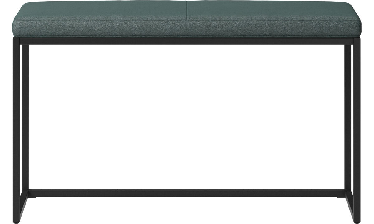 Benches - London small bench with cushion - Green - Fabric