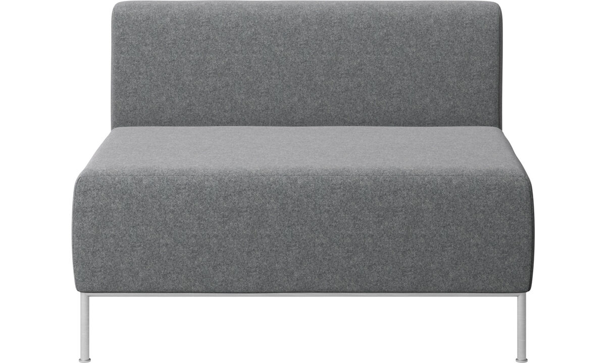 Modular sofas - Miami seat with back - Gray - Fabric