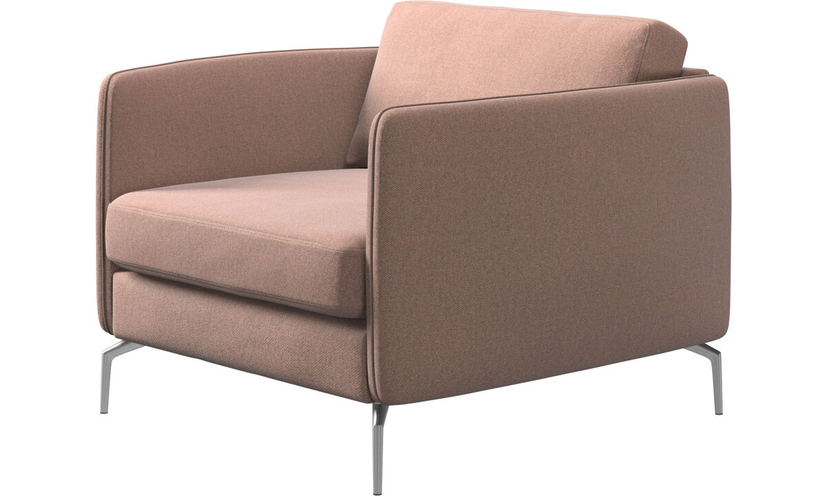 Armchairs - Osaka chair, regular seat - Red - Fabric