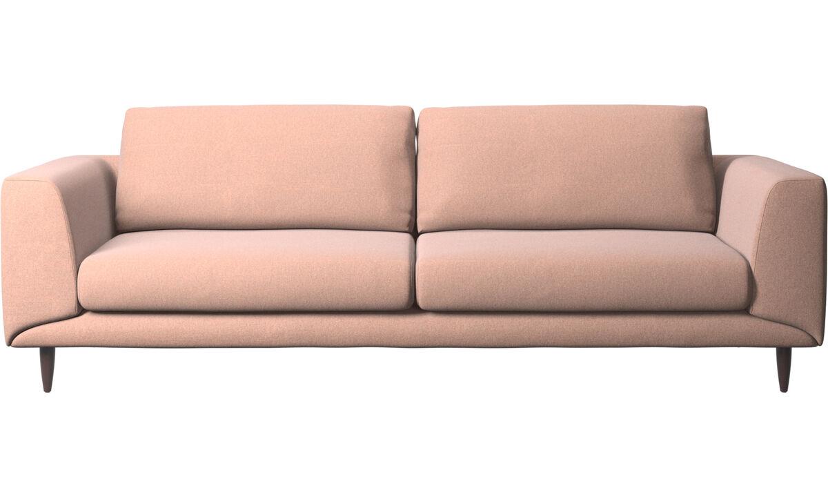 3 seater sofas - Fargo sofa - Red - Fabric
