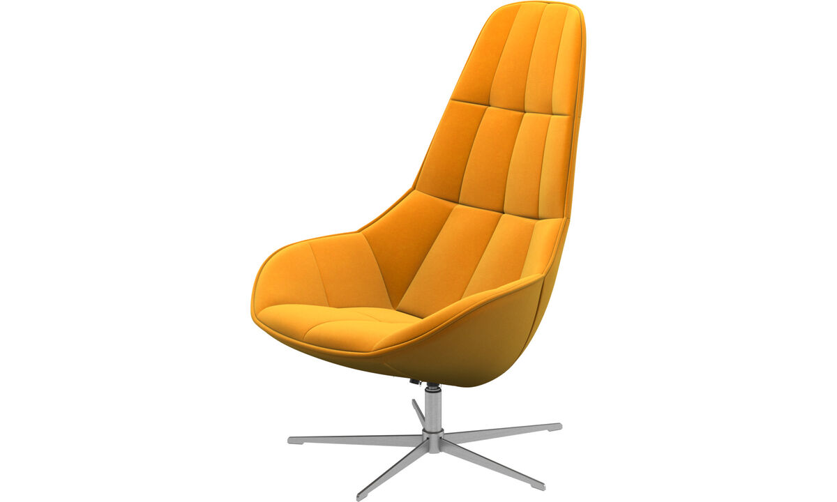 Armchairs - Boston chair with swivel function. Also available with tilt function - Orange - Fabric