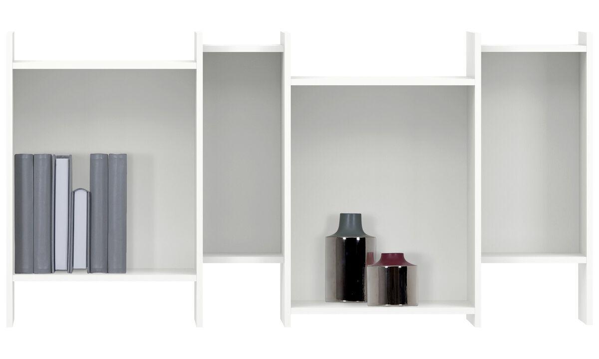 Módulos de parede - estante Como - Branco - Lacado