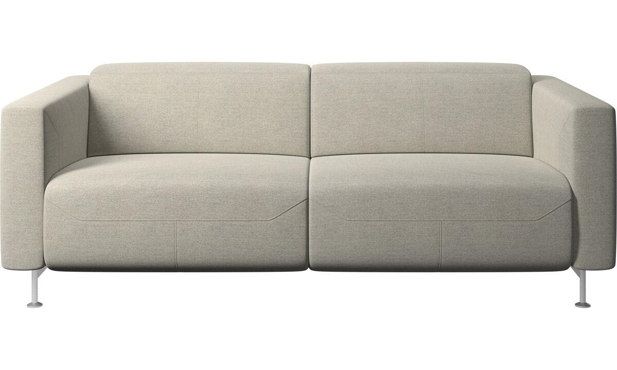 Sofás reclináveis - Sofá reclinável Parma - Bege - Tecido