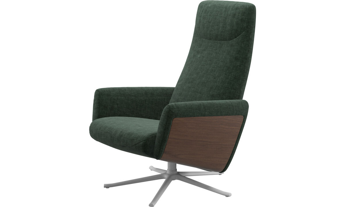 Recliners - Lucca recliner with swivel function - Green - Fabric