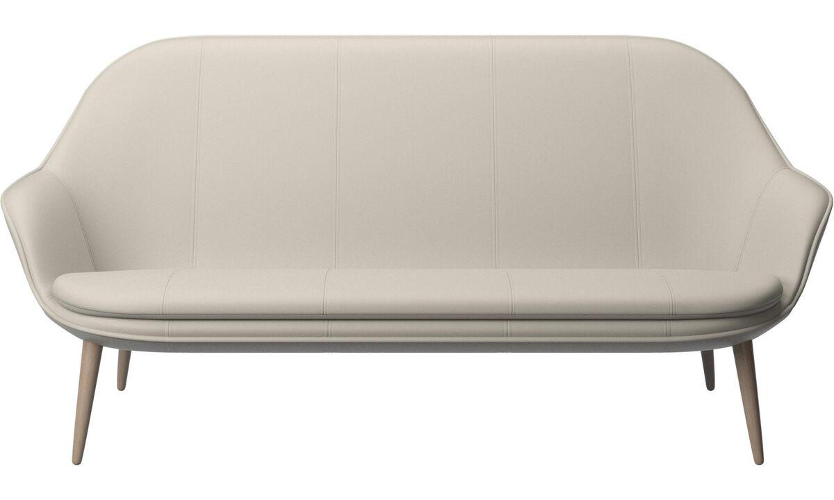 2.5 seater sofas - Adelaide sofa - White - Leather