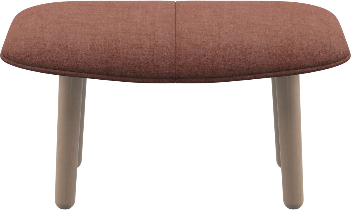 Footstools - fusion footstool - Red - Fabric