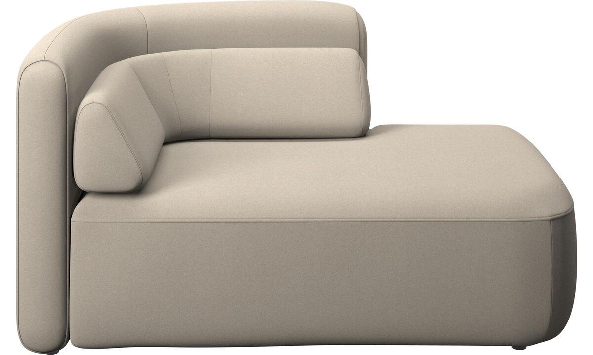 Modulárne sedačky - 1,5 sed Ottawa, otvorená pravá strana - Béžová - Látka