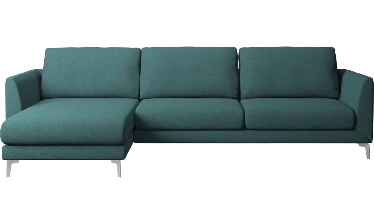 Chaise lounge sofas - Fargo sofa with resting unit - Green - Fabric