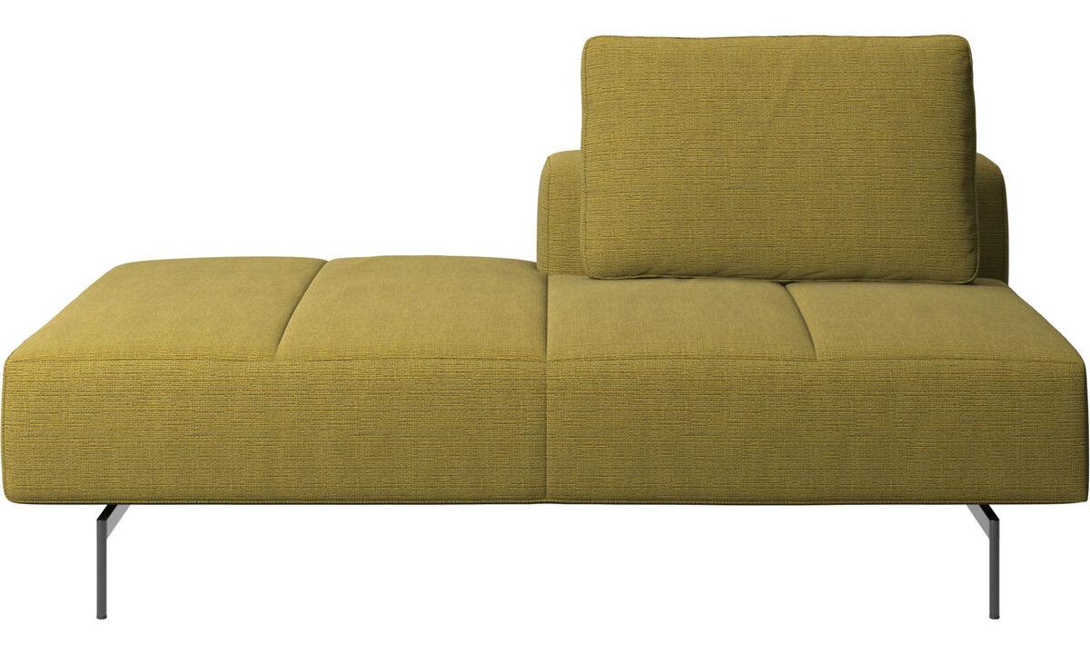Sofaer med hvilemodul - Amsterdam modul til sofa, ryglæn højre, open end venstre - Gul - Stof