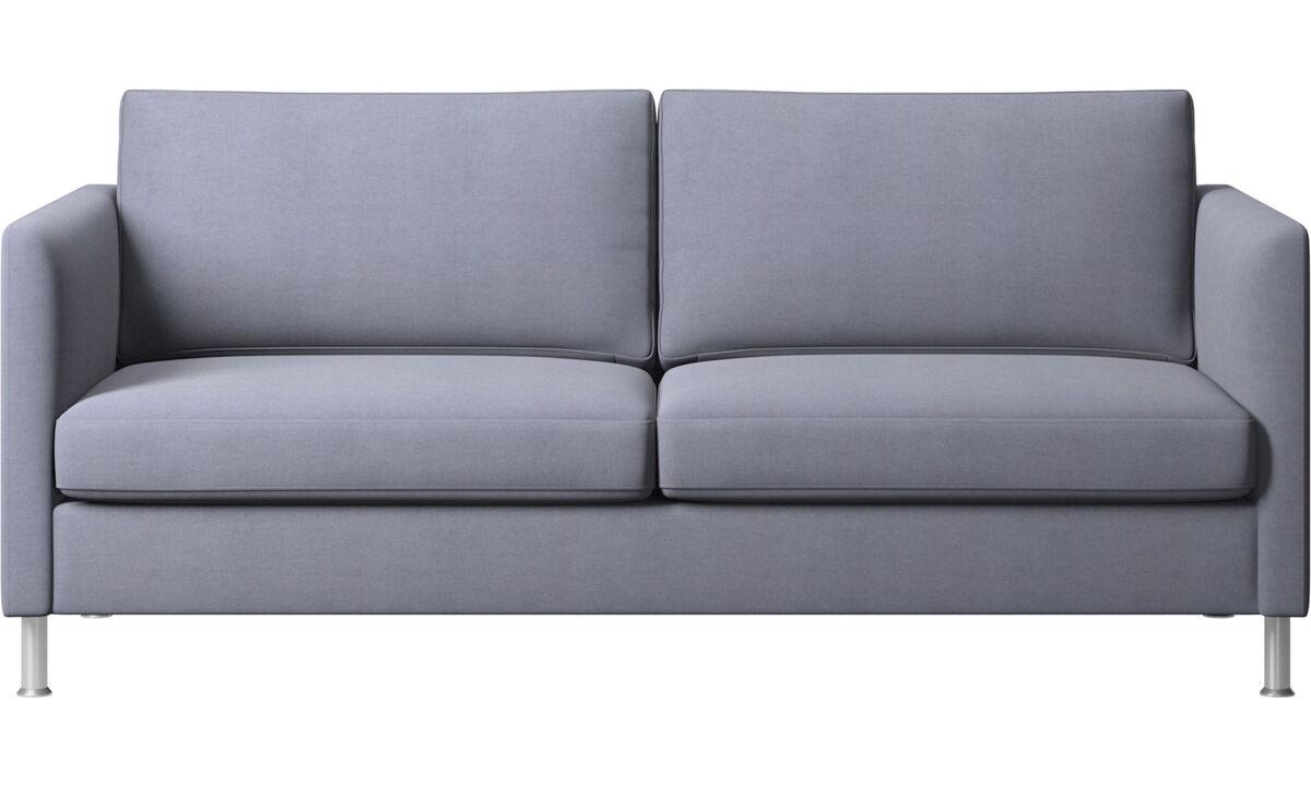 Sofás de 2 plazas y media - sofá Indivi - En azul - Tela