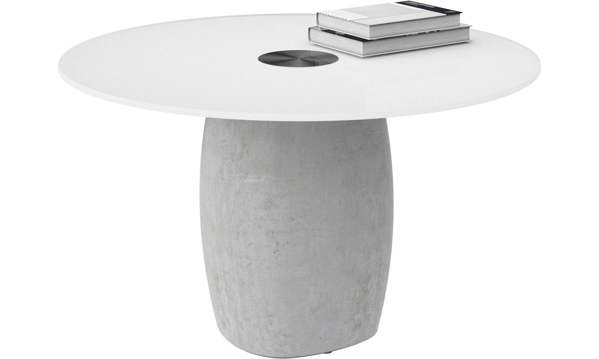 Coffee tables - Bilbao coffee table - round - White - Glass