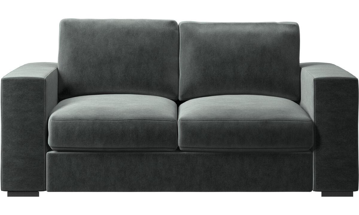 Sofás de 2 plazas - sofá Cenova - En verde - Tela