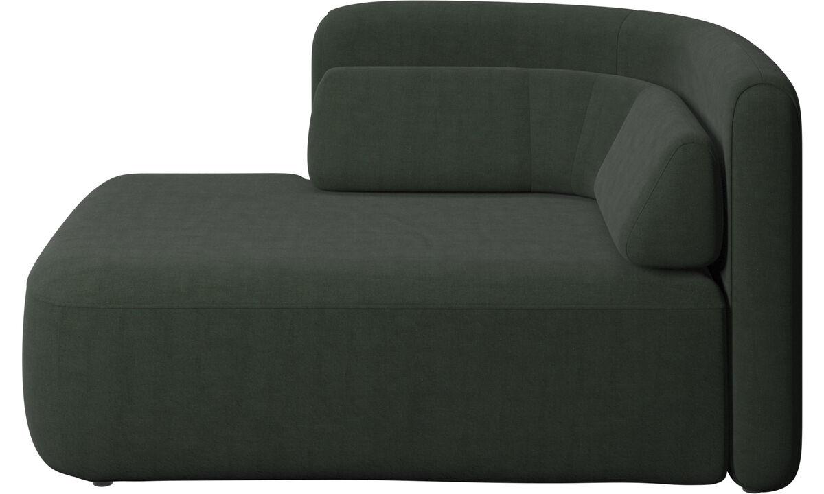 Sofás modulares - assento Ottawa 1,5 aberto lado esquerdo - Verde - Tecido
