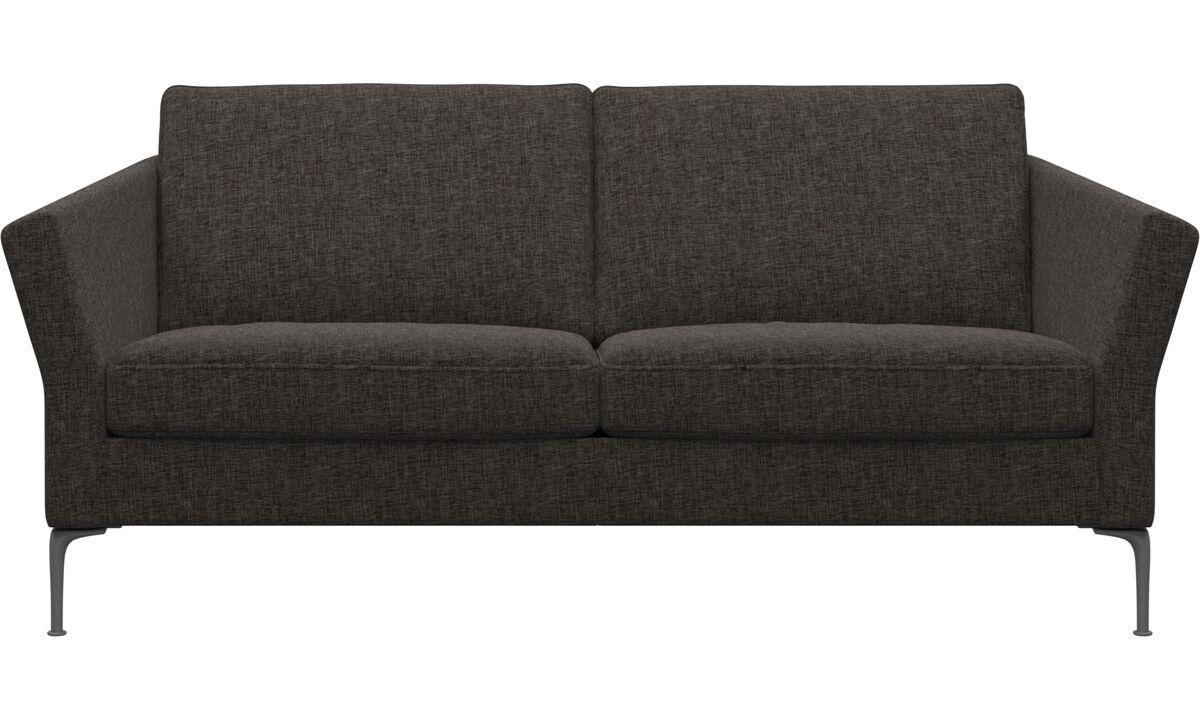 2½-sitzer Sofas - Marseille sofa - Braun - Stoff