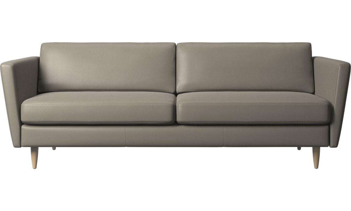 2.5 seater sofas - Osaka divano, seduta liscia - Grigio - Pelle