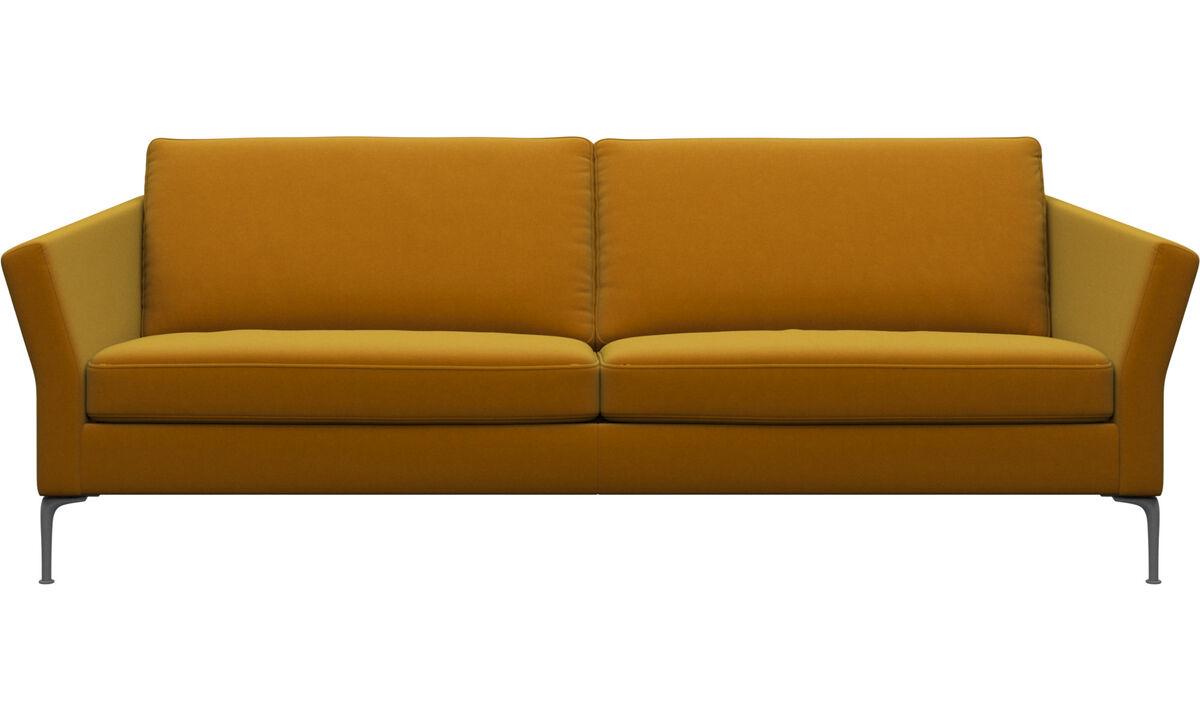 Sofás de 3 plazas - sofá Marseille - Naranja - Tela