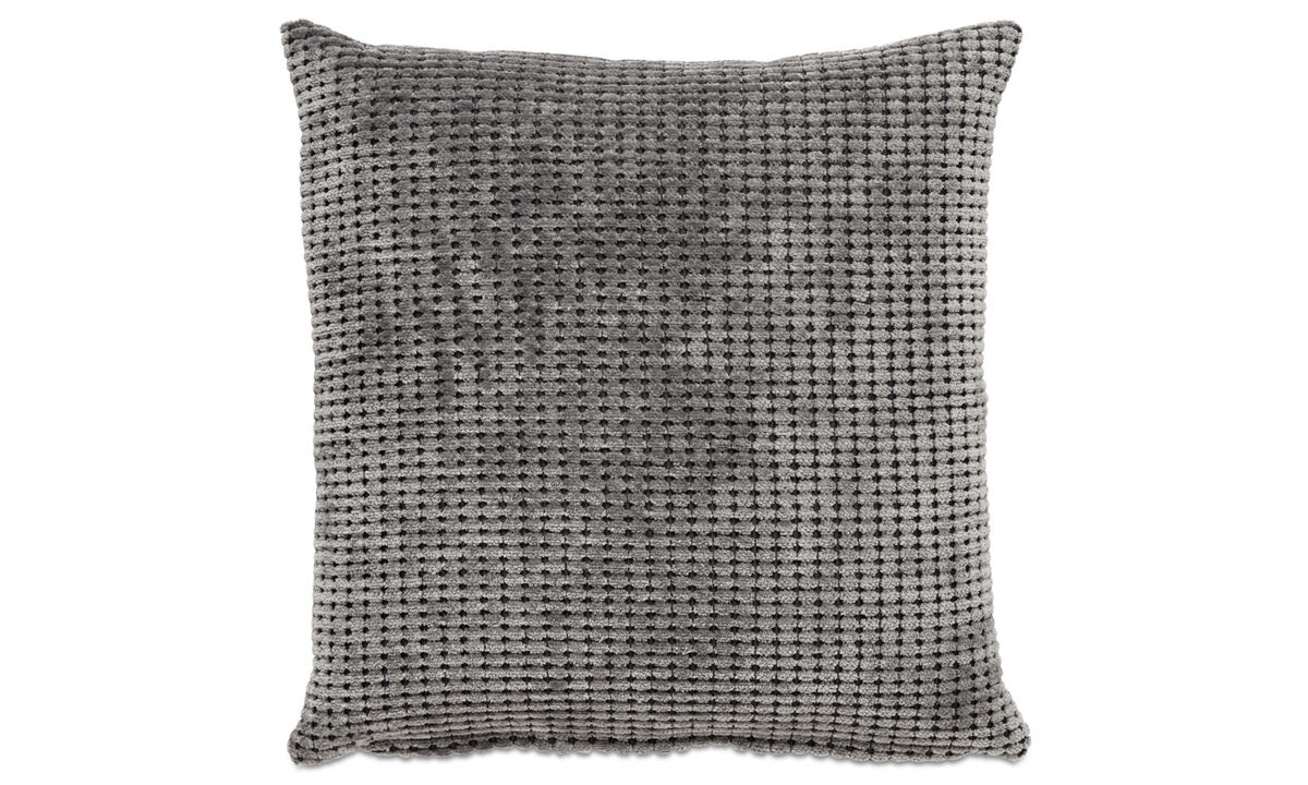 Patterned cushions - Beads cushion - Grey - Fabric