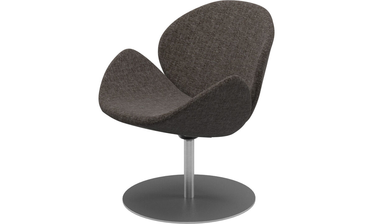 Armchairs - Ogi chair with swivel function - Brown - Fabric