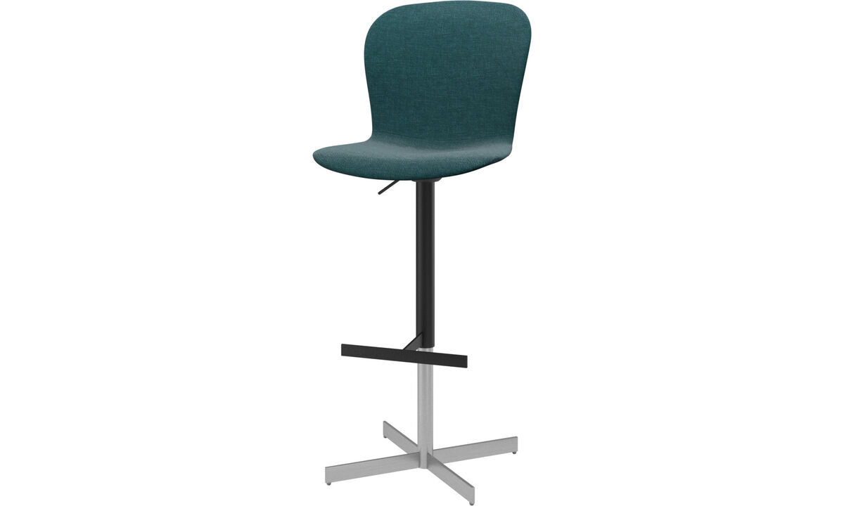 Bar stools - Adelaide barstool with gas cartridge - Blue - Fabric