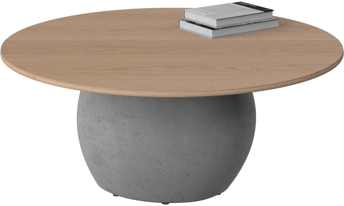 Coffee tables - Bilbao coffee table - round - Brown - Oak