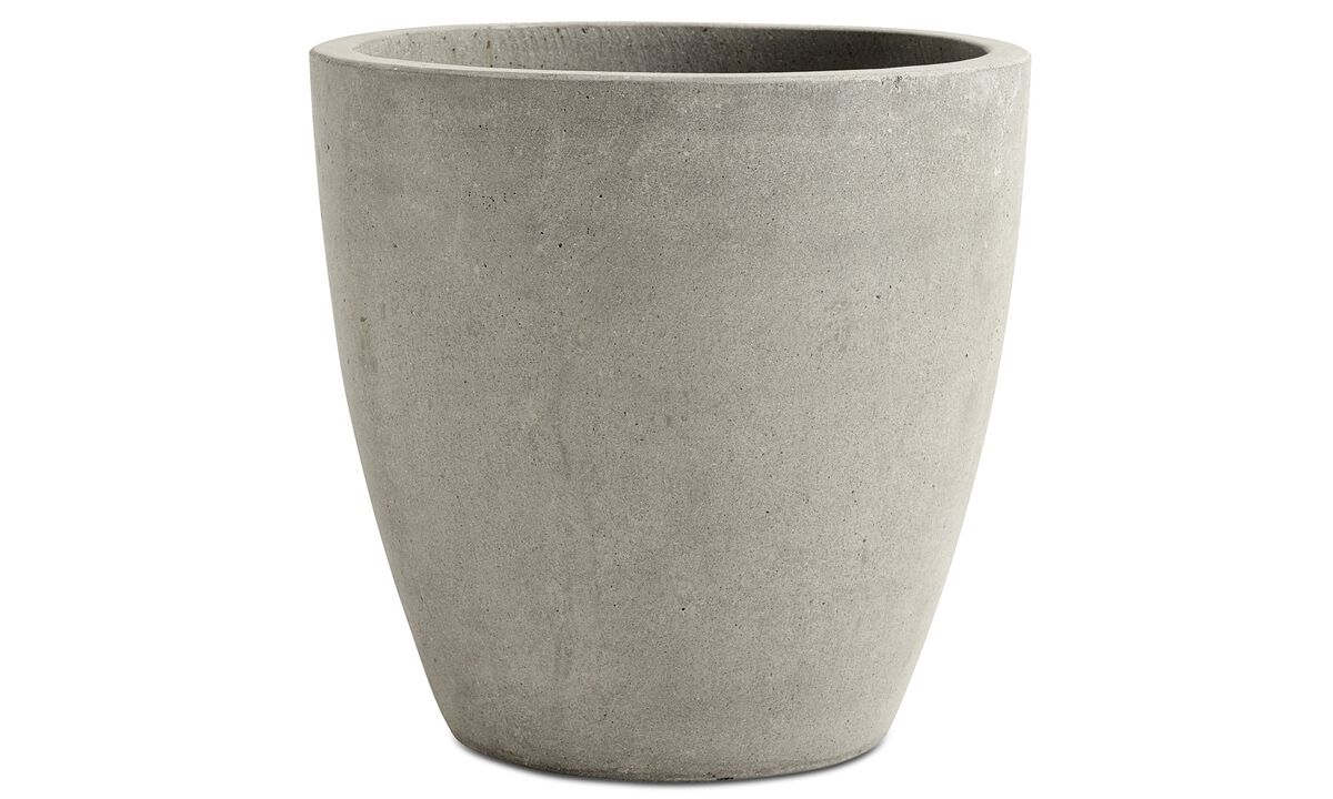 Flowerpots - Outdoor flowerpot - Grey - Concrete