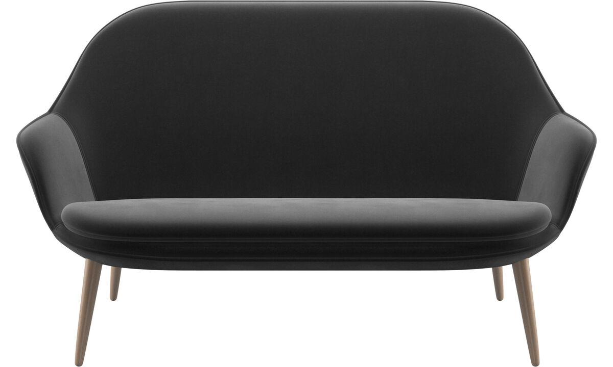 2 seater sofas - Adelaide sofa - Black - Fabric