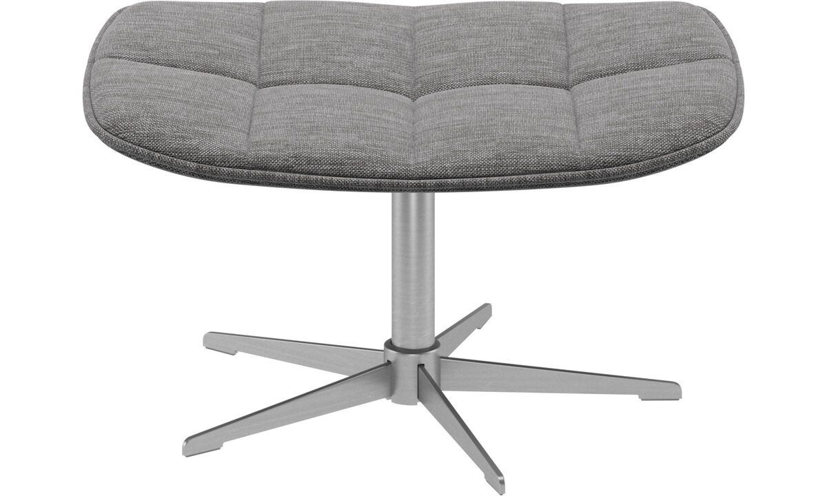 Ottomans - Boston footstool - Gray - Fabric