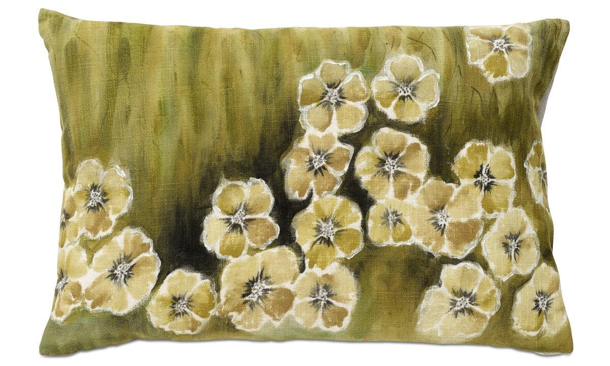 Cushions - Flower cushion - Green - Fabric