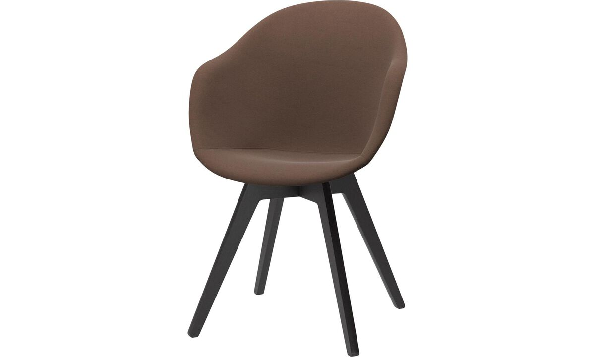 Dining chairs - poltroncina Adelaide - Marrone - Tessuto