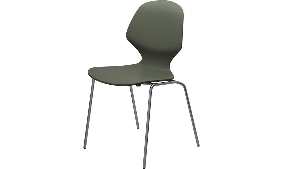 Dining chairs - Florence chair - Green - Lacquered