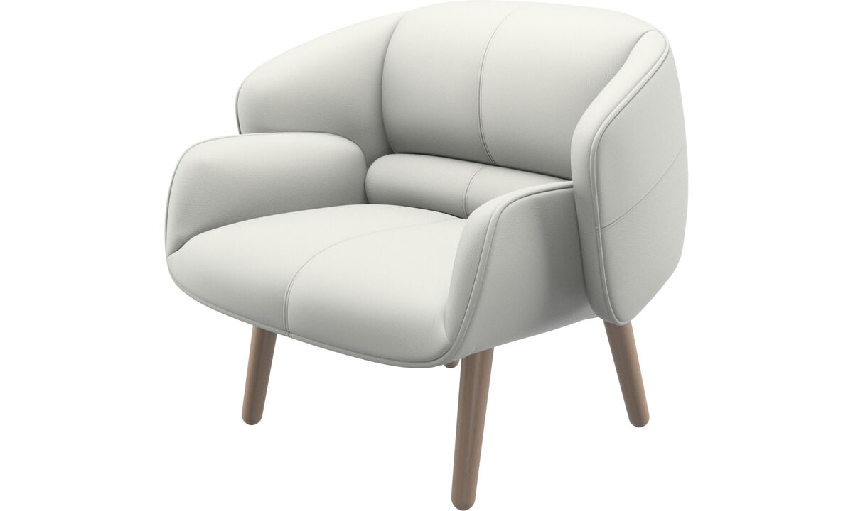 Armchairs - fusion chair - White - Leather