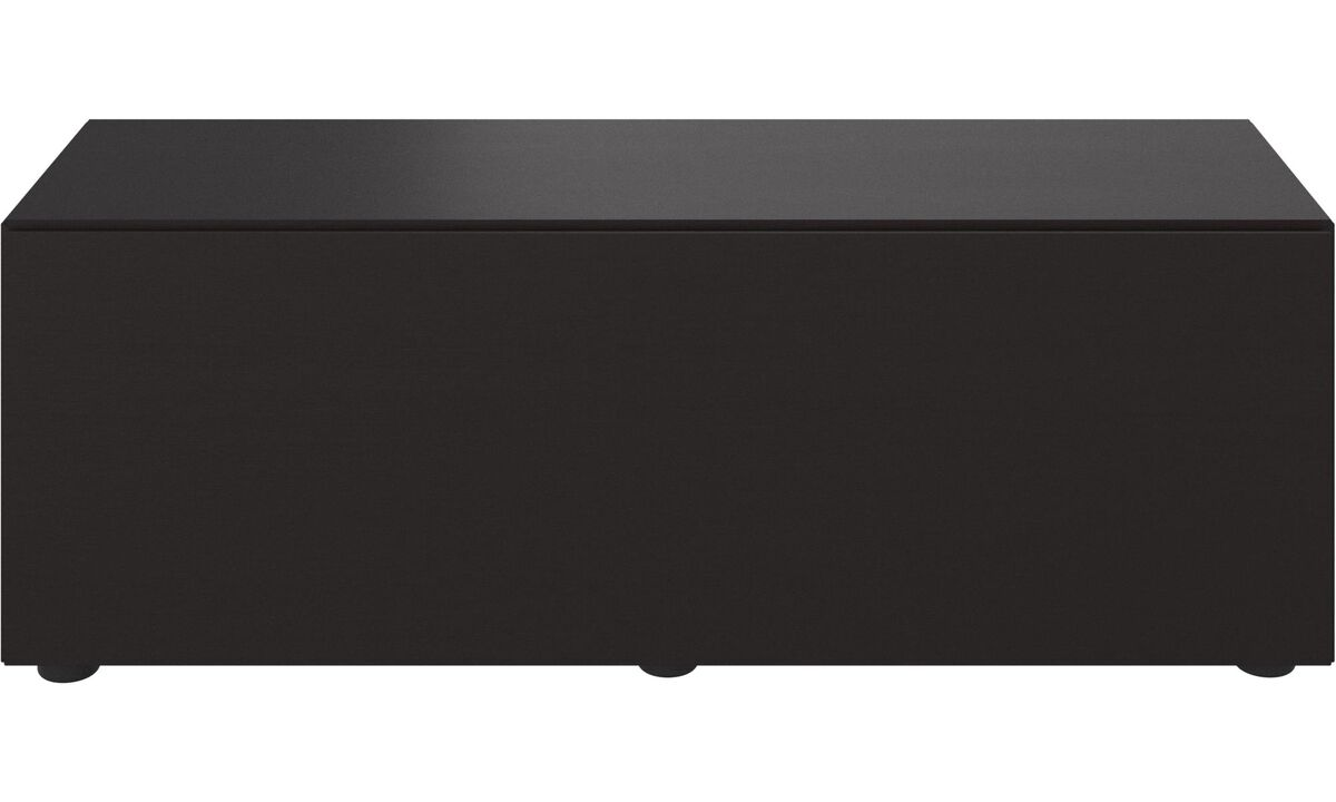 Wall systems - Lugano base cabinet with drawer - Black - Oak