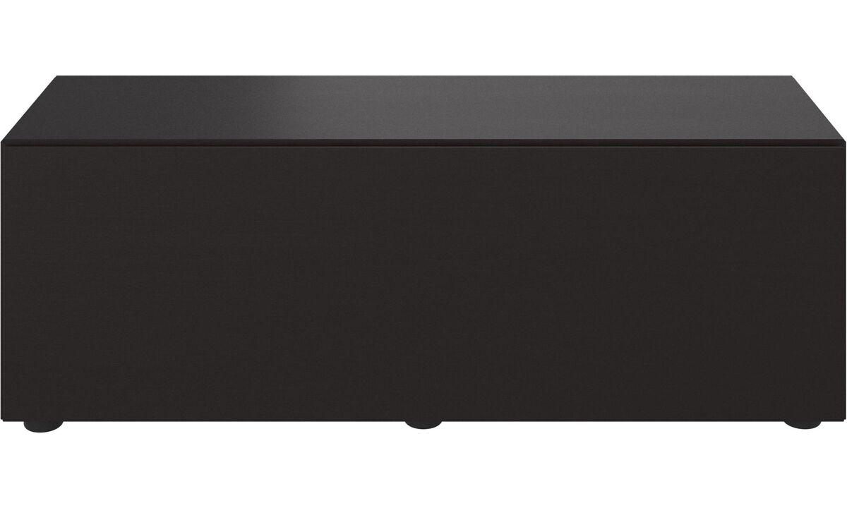 Sistemas de pared - Gabinete de base Lugano con cajón - En negro - Roble