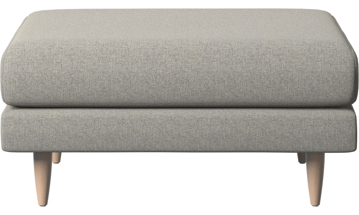 Armchairs and footstools - Fargo footstool - Grey - Fabric