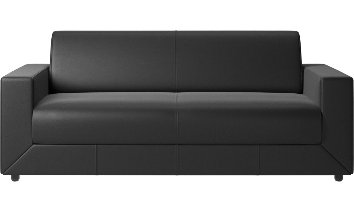 Sofas - Stockholm sofa bed - Black - Leather