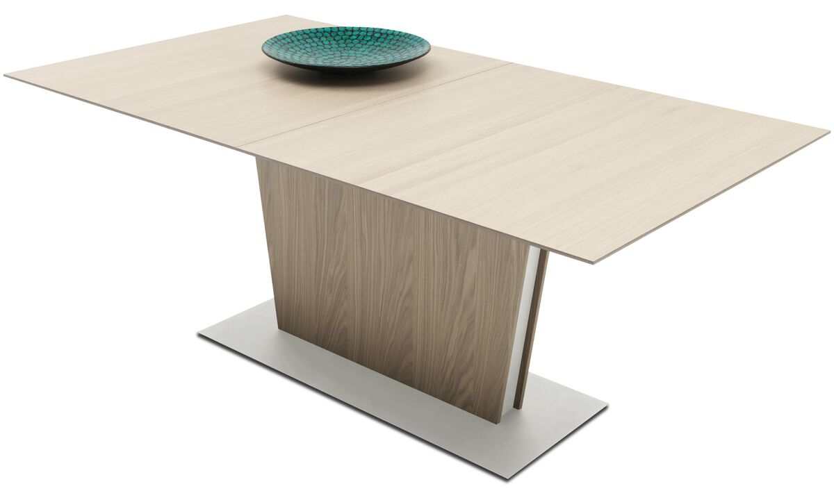 Dining tables - Milano table with supplementary tabletop - square - Brown - Oak