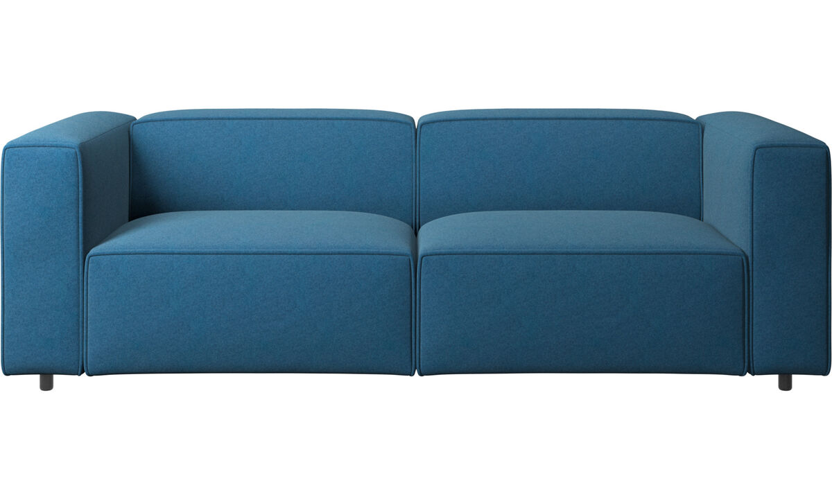 Canapés 2 places et demi - canapé Carmo - Bleu - Tissu