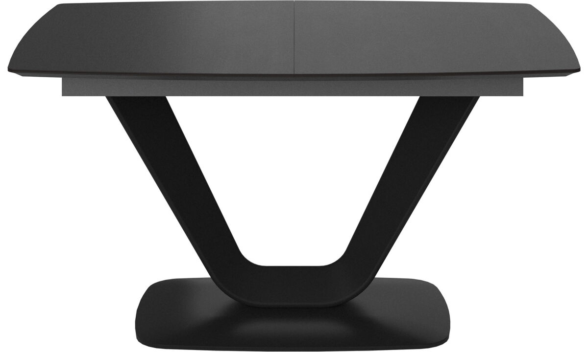 Обеденные столы - стол Alicante с дополнительной столешницей - прямоугольный - Черного цвета - Дуб