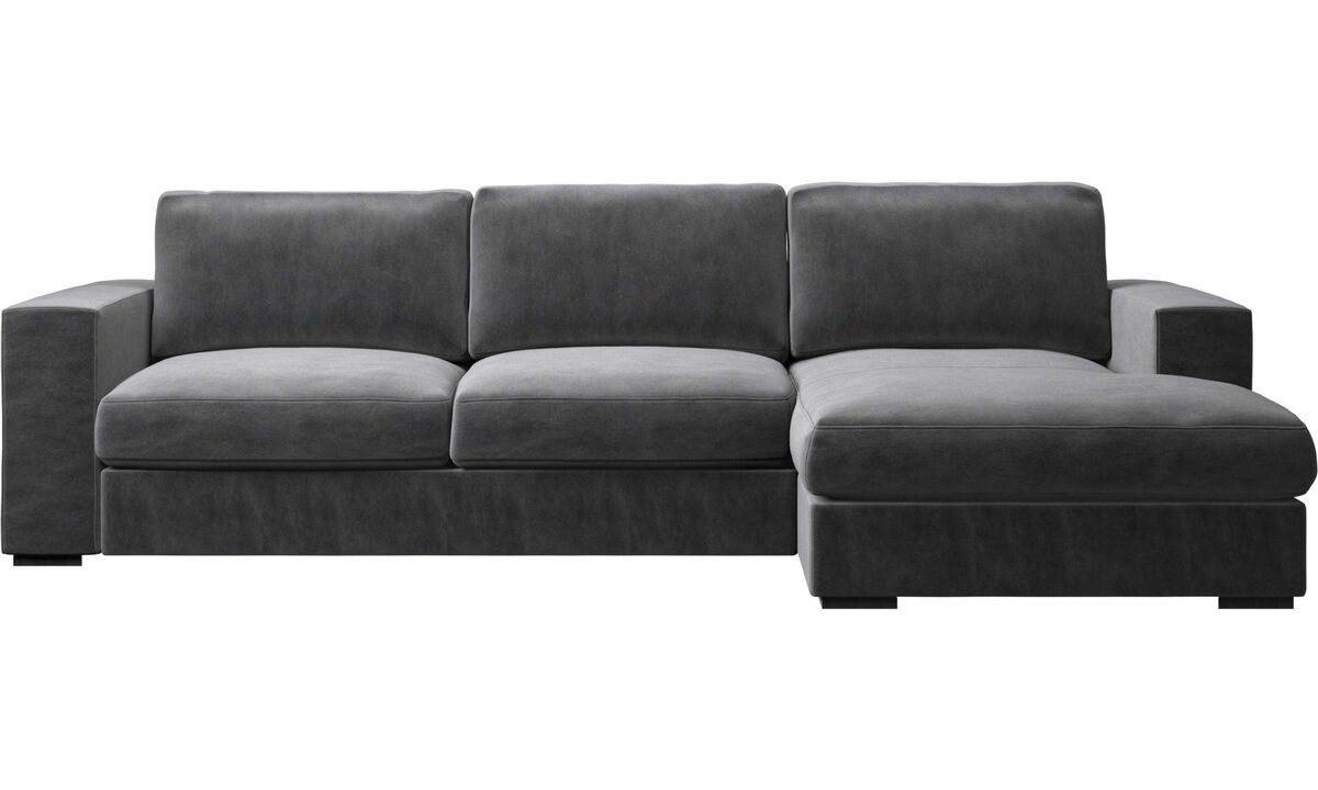 Chaise lounge sofas - Cenova sofa with resting unit - Grey - Fabric