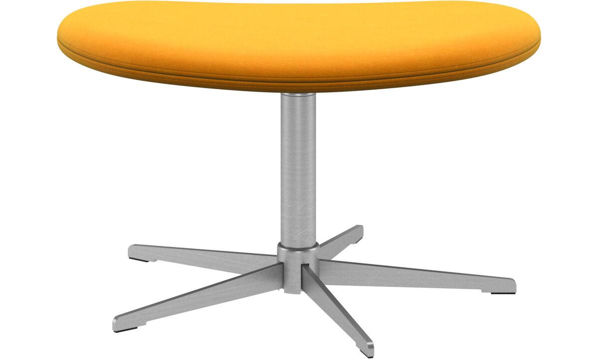 Footstools - Ogi footstool - Orange - Fabric