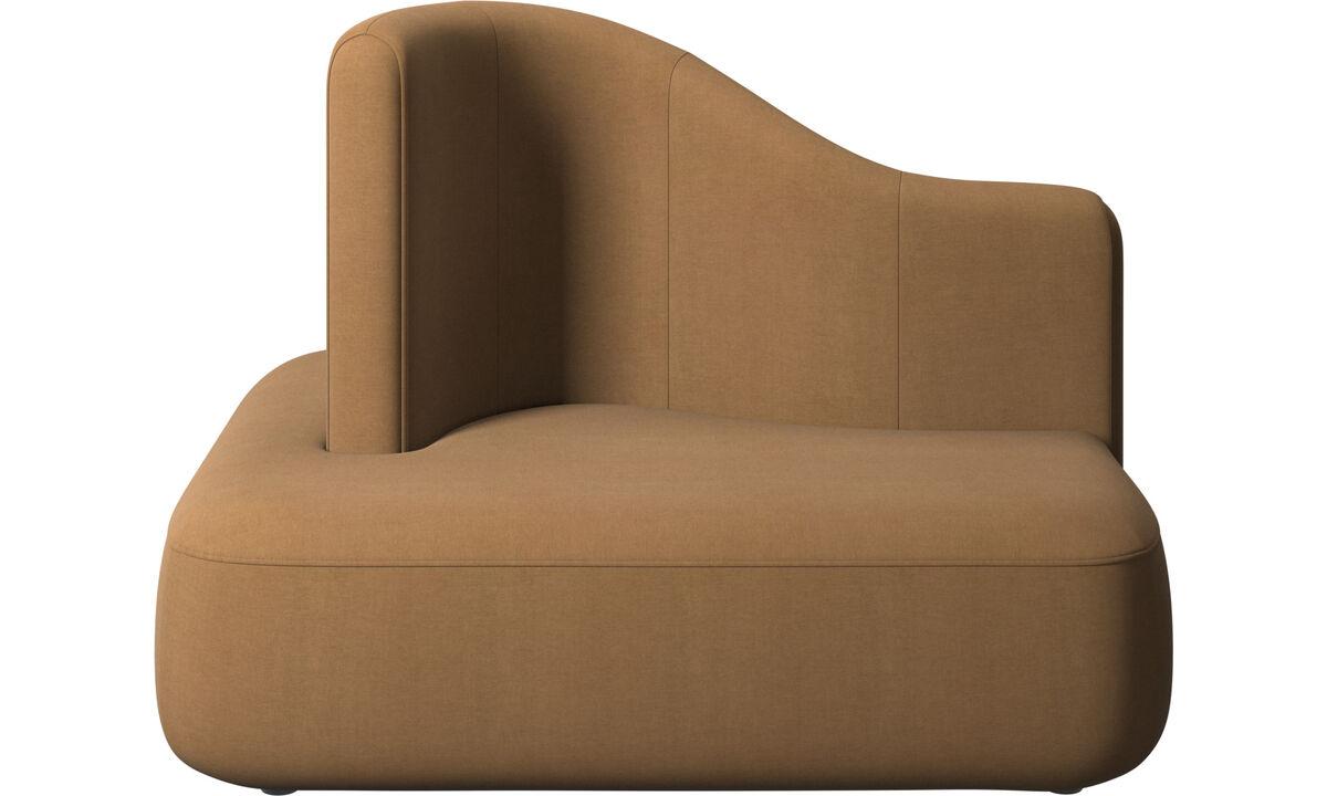 Sofás modulares - Butaca Ottawa respaldo alto - En marrón - Tela