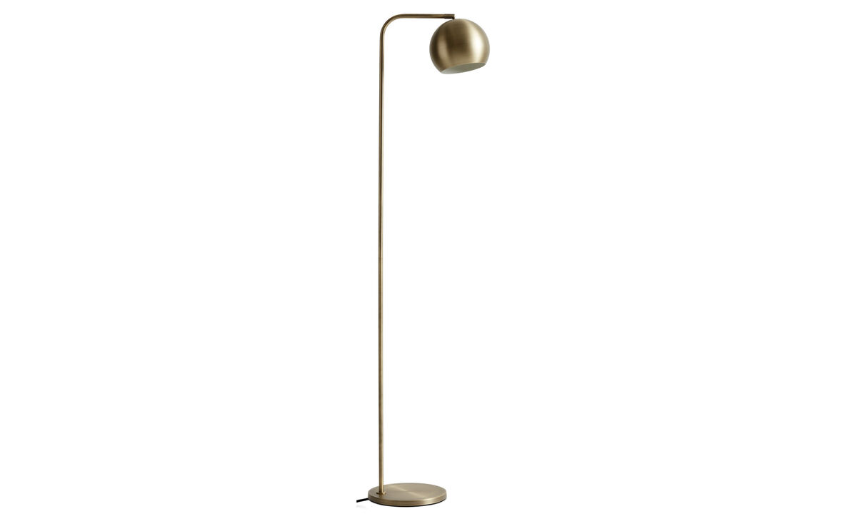 Lamps - Kip floor lamp - Yellow - Metal