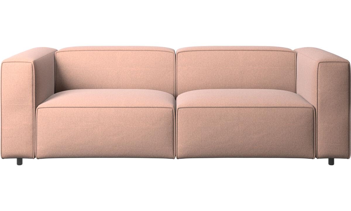 2.5 seater sofas - Carmo sofa - Red - Fabric