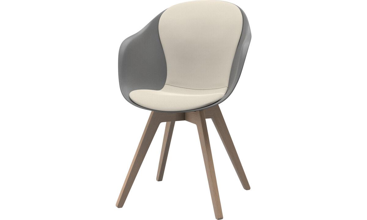 Sillas de comedor - silla Adelaide - Blanco - Tela