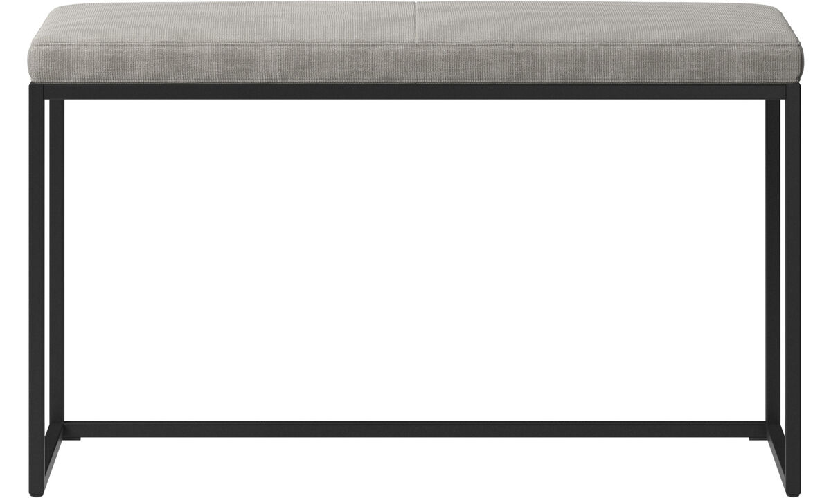 Benches - London small bench with cushion - Grey - Fabric