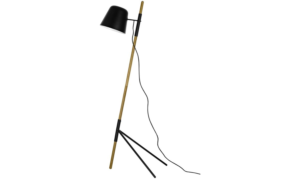 New designs - Outrigger floor lamp - Brown - Oak