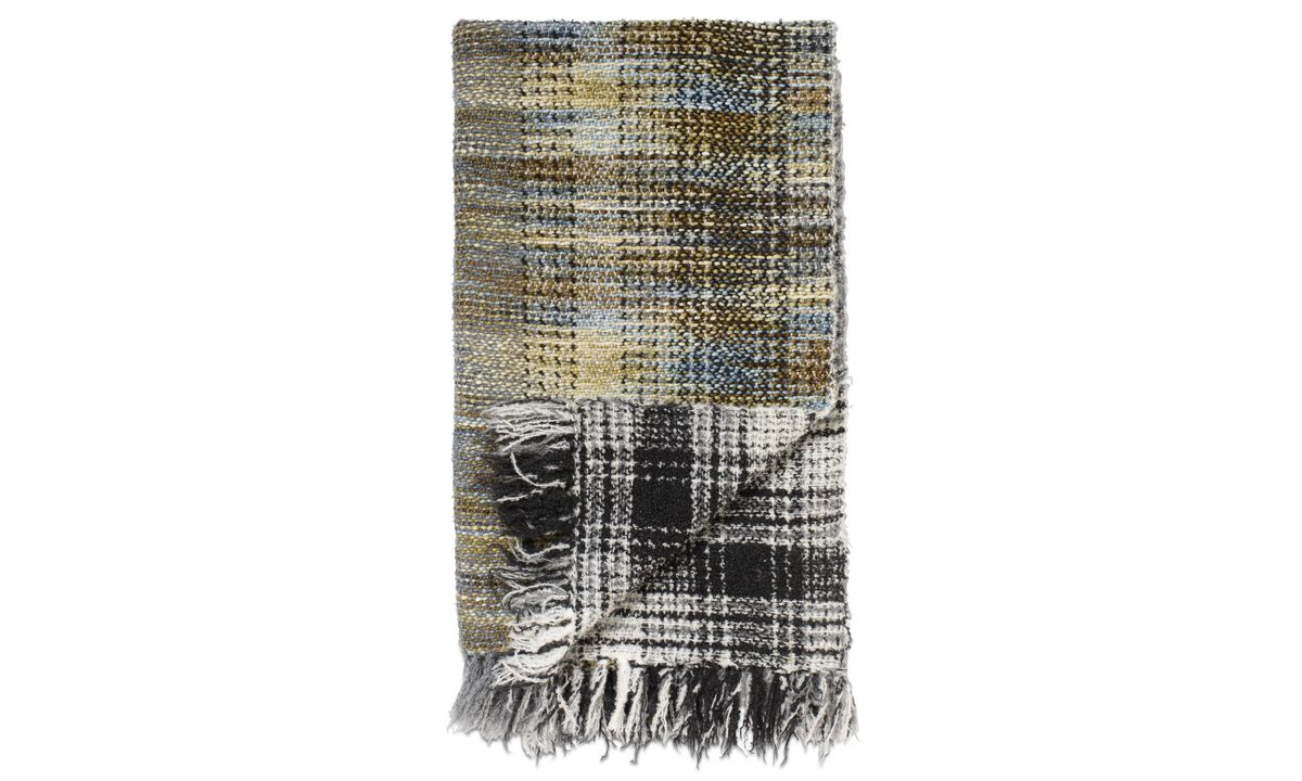 Throws & bedspreads - Multi plaid - Blu - Tessuto